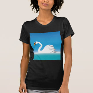 Swan White Tee Shirt