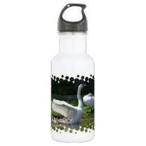 SWAN WINGS SPREAD WIDE WITH FAMILY WATER BOTTLE
