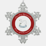 Swan with Holly Seventh Day of Christmas Ornament