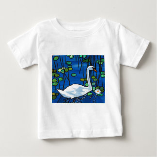 Swan with Waterlily Baby T-Shirt