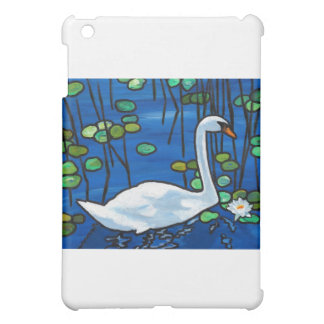 Swan with Waterlily iPad Mini Cases