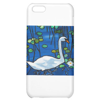 Swan with Waterlily iPhone 5C Cases