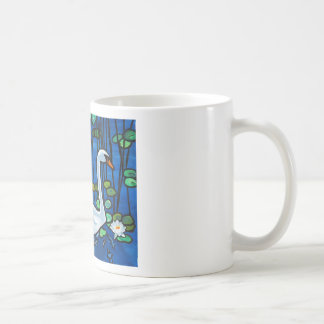 Swan with Waterlily Mugs