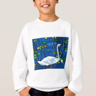 Swan with Waterlily Sweatshirt