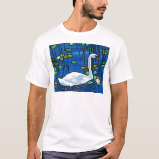 Swan with Waterlily T-Shirt