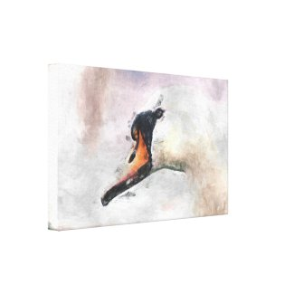 Swan Wrapped Canvas wrappedcanvas