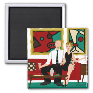 Swank Digs 2 Inch Square Magnet