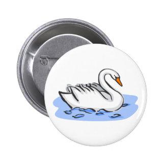 Swank Swan Pinback Button