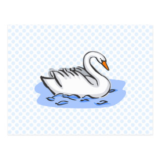 Swank Swan Postcard