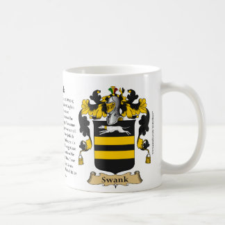 Swank, the Origin, the Meaning and the Crest Coffee Mug