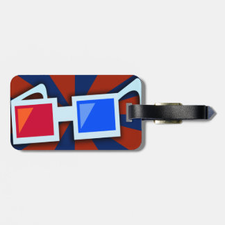 Swanky 1950's 3-D Glasses Luggage Tag