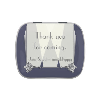Swanky Art Deco in Blue Candy Favor Tin Candy Tin