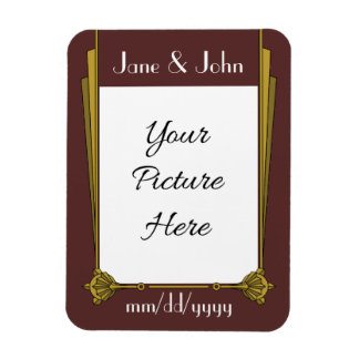 Swanky Art Deco in Red Save-the-Date Magnet