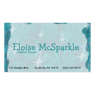 Swanky Blue Retro Double-Sided Standard Business Cards (Pack Of 100)