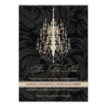 """Swanky Chandelier Modern Save Date Announcement 5"""" X 7"""" Invitation Card"""