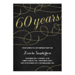 Swanky Faux Gold Foil 60th Birthday Party 5x7 Paper Invitation Card