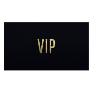 """Swanky Faux Gold Leaf Foil """"VIP"""" Typography Double-Sided Standard Business Cards (Pack Of 100)"""