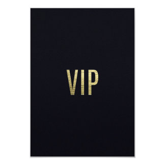 """Swanky Faux Gold Leaf Foil """"VIP"""" Typography Card"""