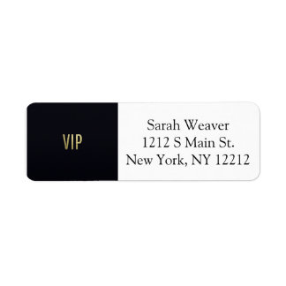 "Swanky Faux Gold Leaf Foil ""VIP"" Typography Label"