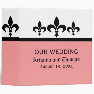 Swanky Fleur De Lis Wedding Binder, Pink Binder