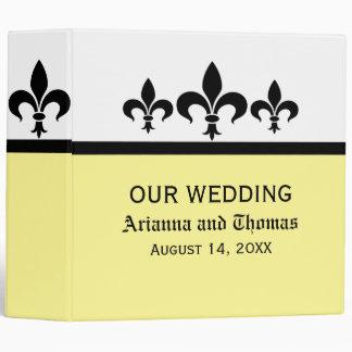Swanky Fleur De Lis Wedding Binder, Yellow Binder