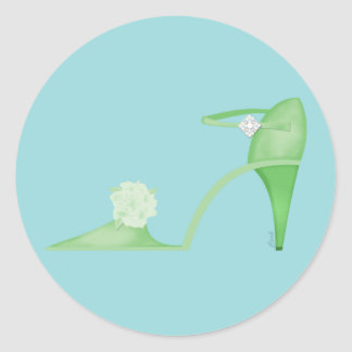 Swanky Green Shoe Sticker