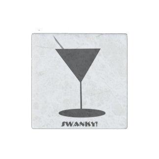 Swanky Martini Glass Stone Magnet