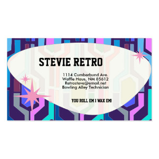 Swanky Retro Blue Double-Sided Standard Business Cards (Pack Of 100)