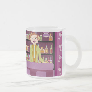 Swanky Sixties Hangout Frosted Glass Coffee Mug