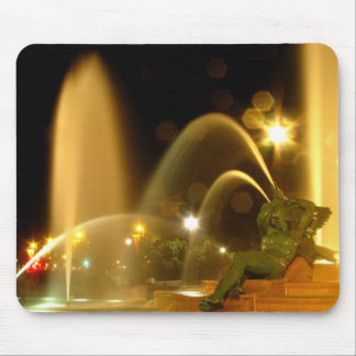 Swann Fountain at Night, Schuylkill Figure Mousepa Mouse Pads
