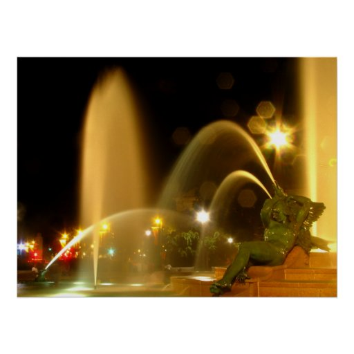 Swann Fountain at Night, Schuylkill Figure Posters
