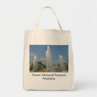 Swann Fountain Grocery Tote Canvas Bag