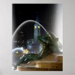 Swann Fountain w/ City Hall Print
