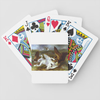Swannery Invaded by Eagles by Edwin Henry Landseer Bicycle Playing Cards