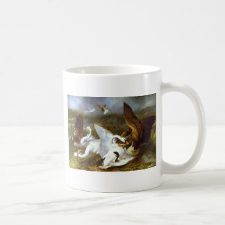 Swannery Invaded by Eagles by Edwin Henry Landseer Coffee Mug