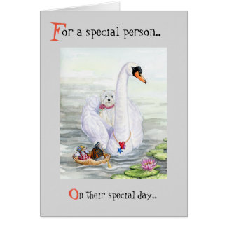 Swanning About Westie Card