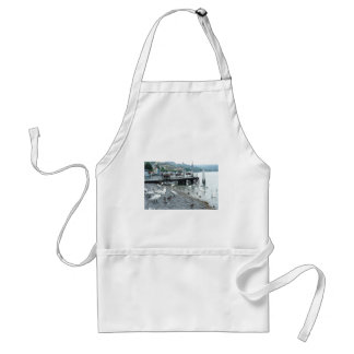 Swans and ducks in Lake Lucerne Adult Apron