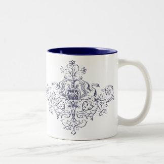 Swans and Scrolls Two-Tone Coffee Mug