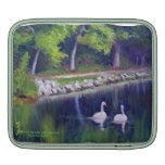 SWANS AT HIDDEN LAKE GARDENS SLEEVE FOR iPads