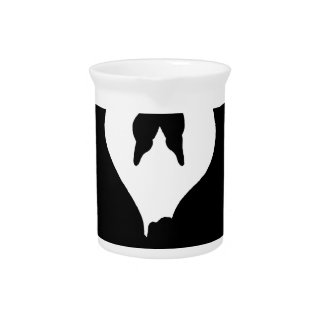 swans black beverage pitcher