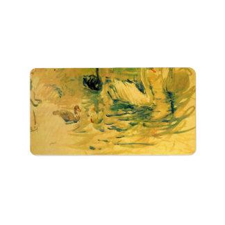 Swans by Berthe Morisot Address Label