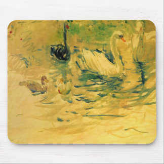 Swans by Berthe Morisot Mouse Pad