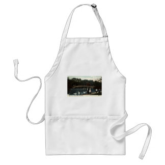 Swans Central Park New York Repro Vintage 1908 Adult Apron