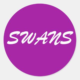 SWANS CLASSIC ROUND STICKER