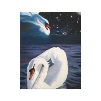 Swans Constellation - Canvas Print