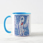 Swans distressed mug