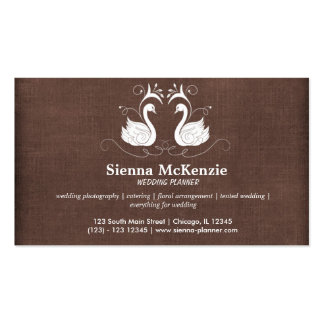 Swans Double-Sided Standard Business Cards (Pack Of 100)