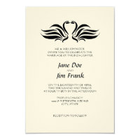 Swans Formal Wedding Invitation