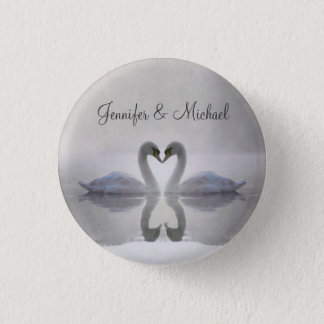 Swans in Love ~ Button