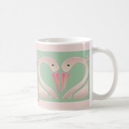 Swans in Love (Personalized Ceramic Mug)